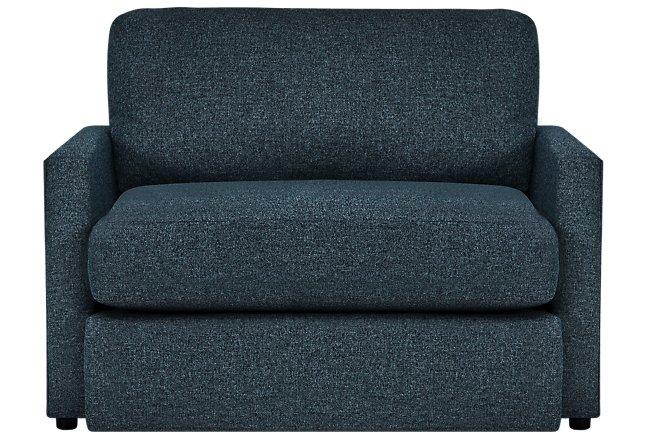 Noah Dark Blue Fabric Chair