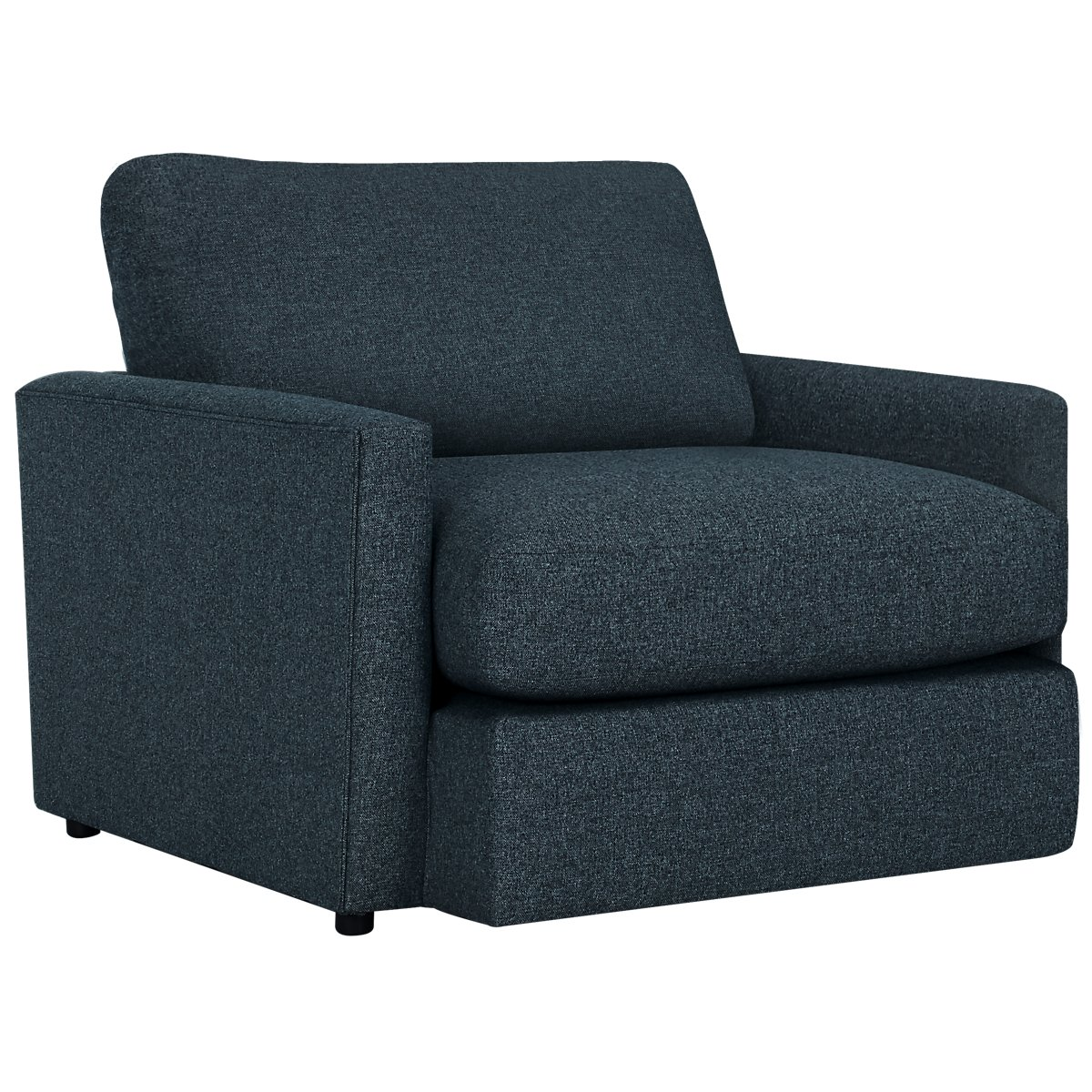 Noah Dark Blue Fabric Chair