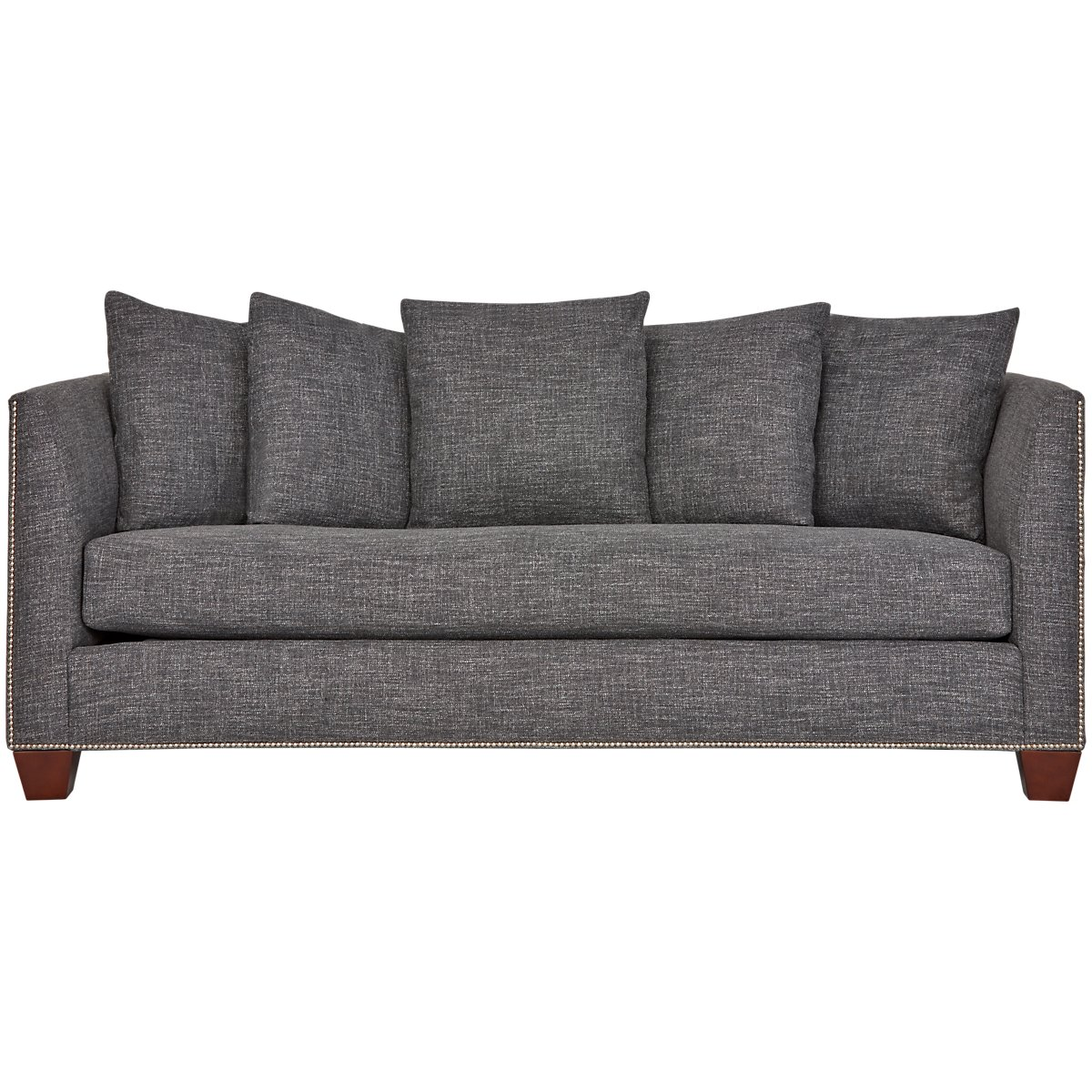 city furniture wren dark gray fabric sofa
