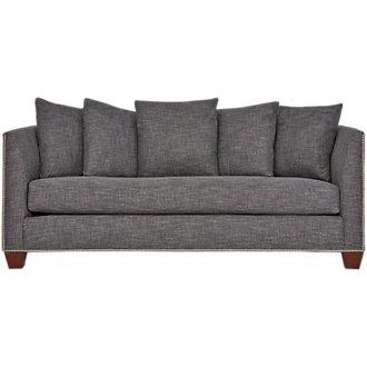 Wren Dark Gray Fabric Sofa