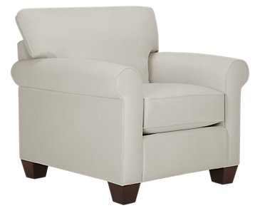 Corlis Light Gray Fabric Chair
