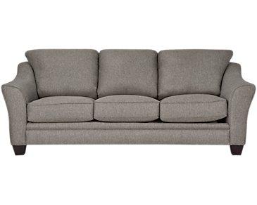 Avery Dark Gray Fabric Sofa