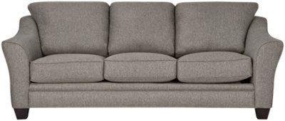Charmant Avery Dark Gray Fabric Sofa