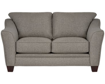 Avery Dark Gray Fabric Loveseat