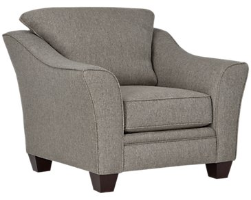 Avery Dark Gray Fabric Chair