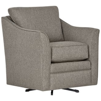 Avery Dark Gray Fabric Swivel Rocking Glider
