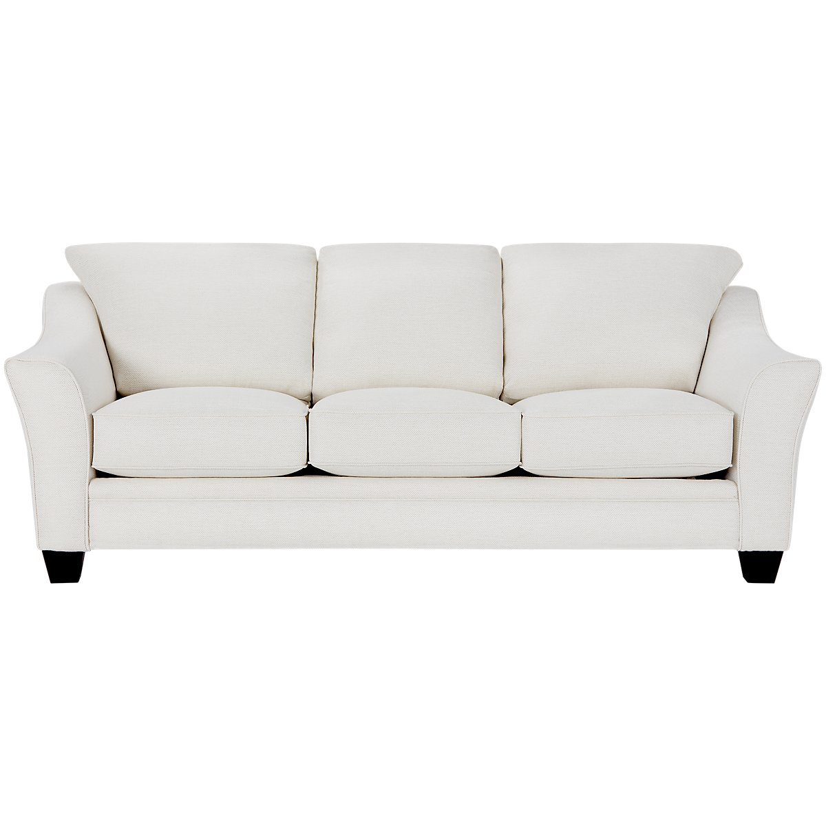 City Furniture Avery White Fabric Sofa