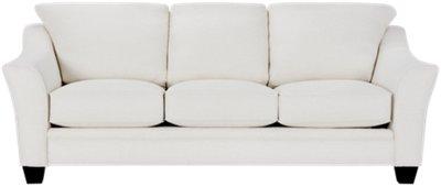 Captivating Avery White Fabric Sofa