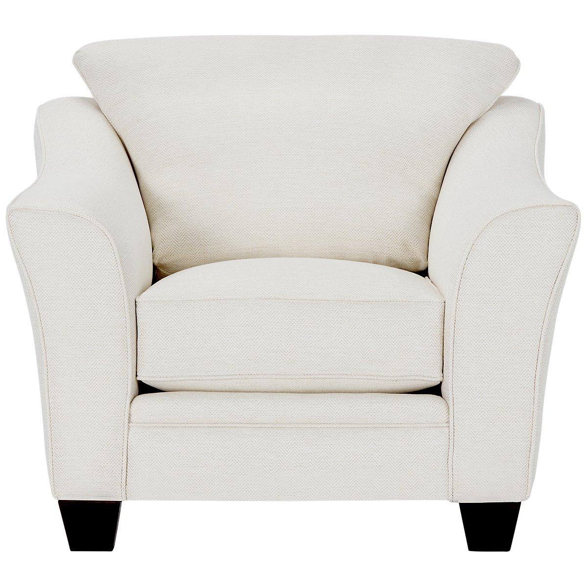 Avery White Fabric Chair