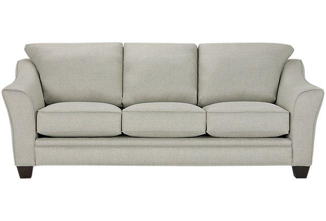 Avery Light Green Fabric Sofa