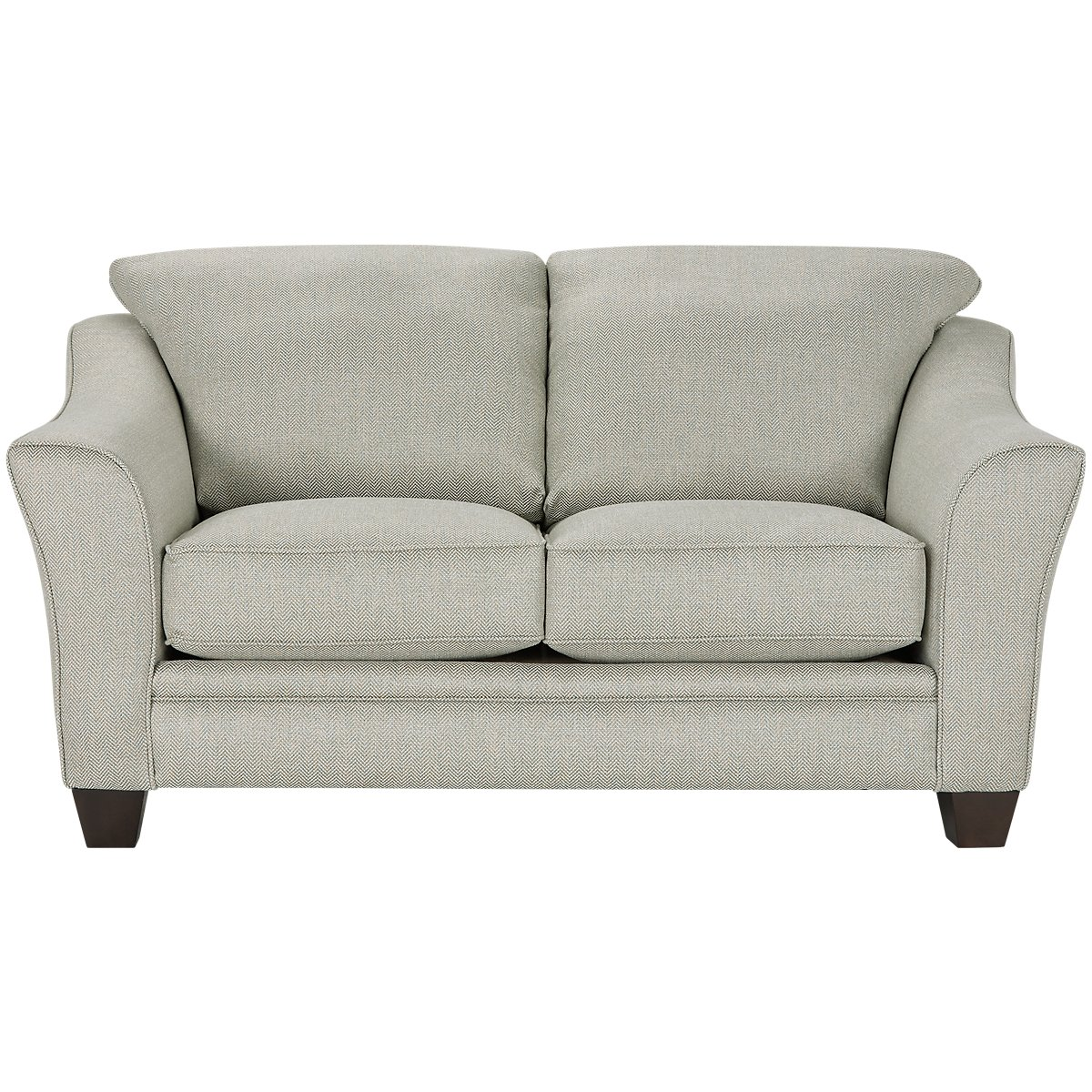 Avery Light Green Fabric Loveseat