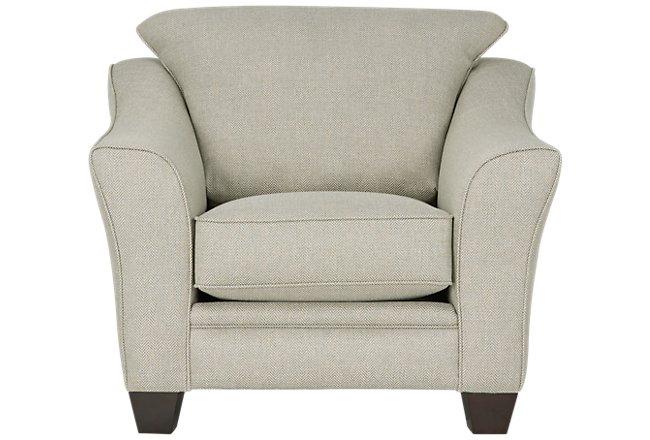 Avery Light Green Fabric Chair