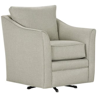 Avery Light Green Fabric Swivel Rocking Glider