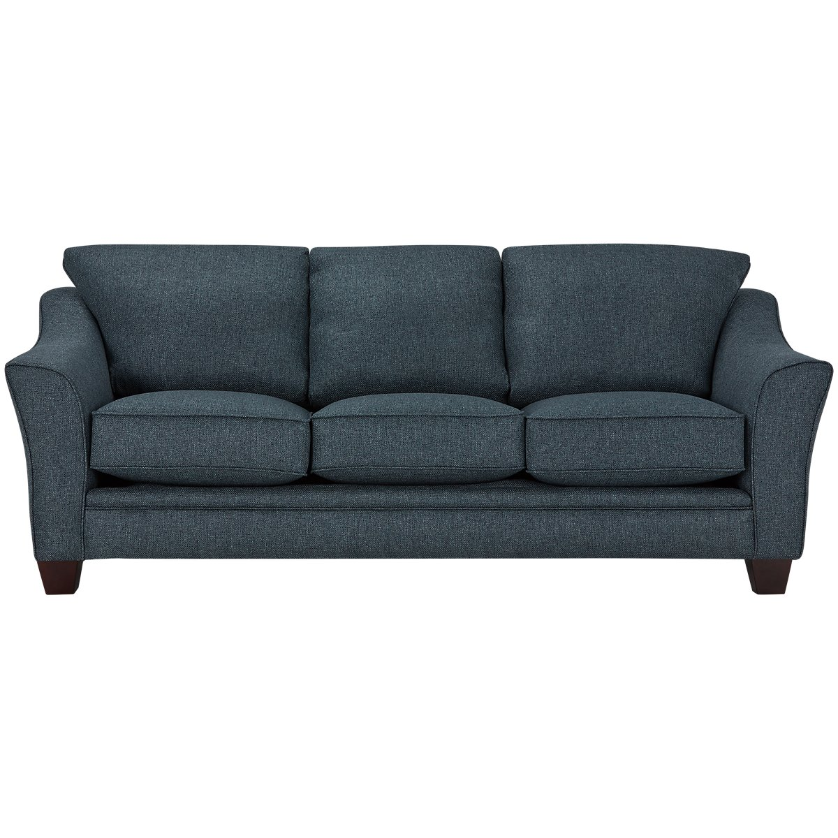 Jolanda Tufted Blue Fabric Sofa Set