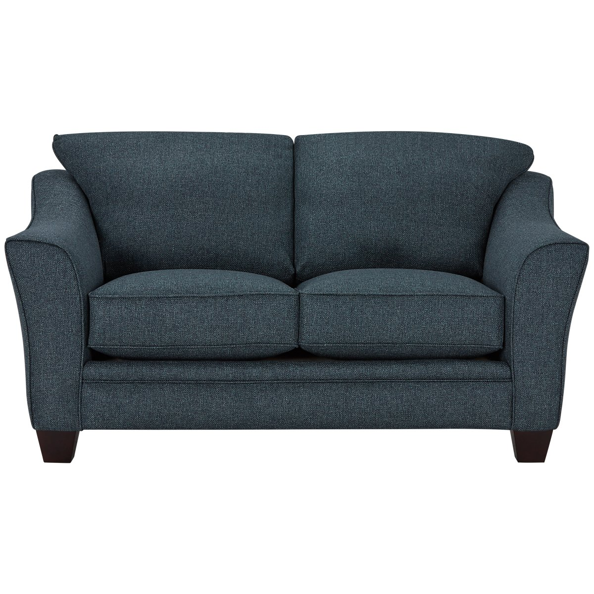 Avery Dark Blue Fabric Loveseat
