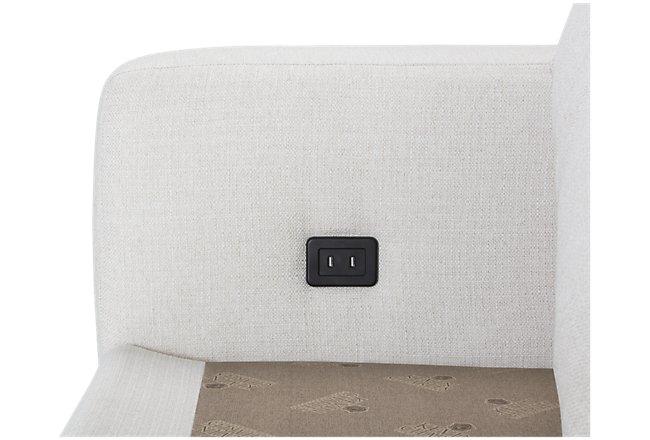 Veronica White Fabric Large Sofa
