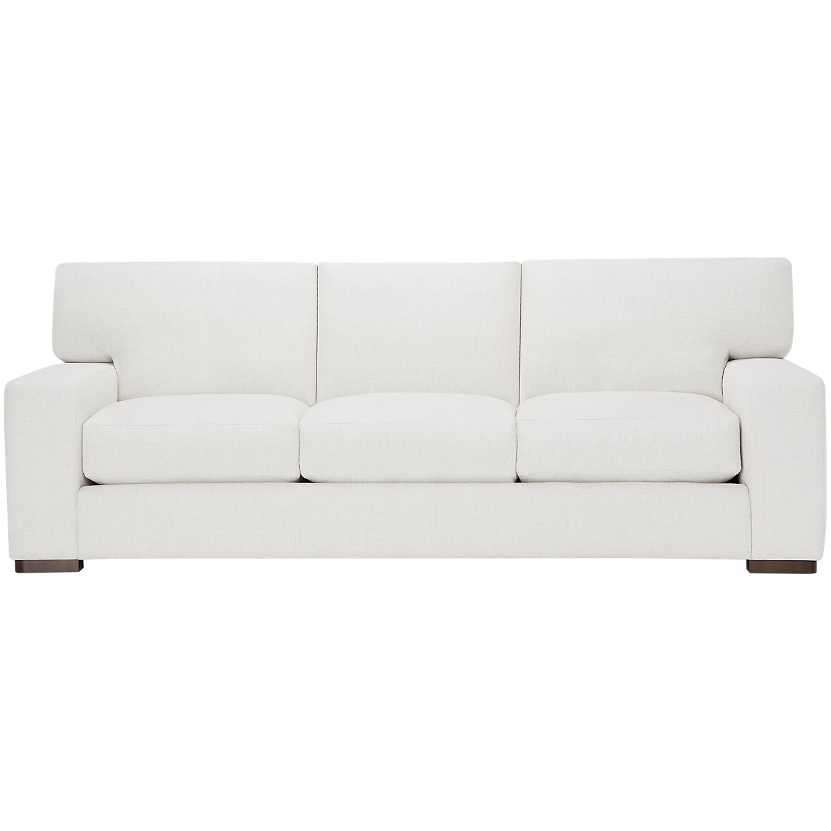 Veronica White Fabric Large Sofa