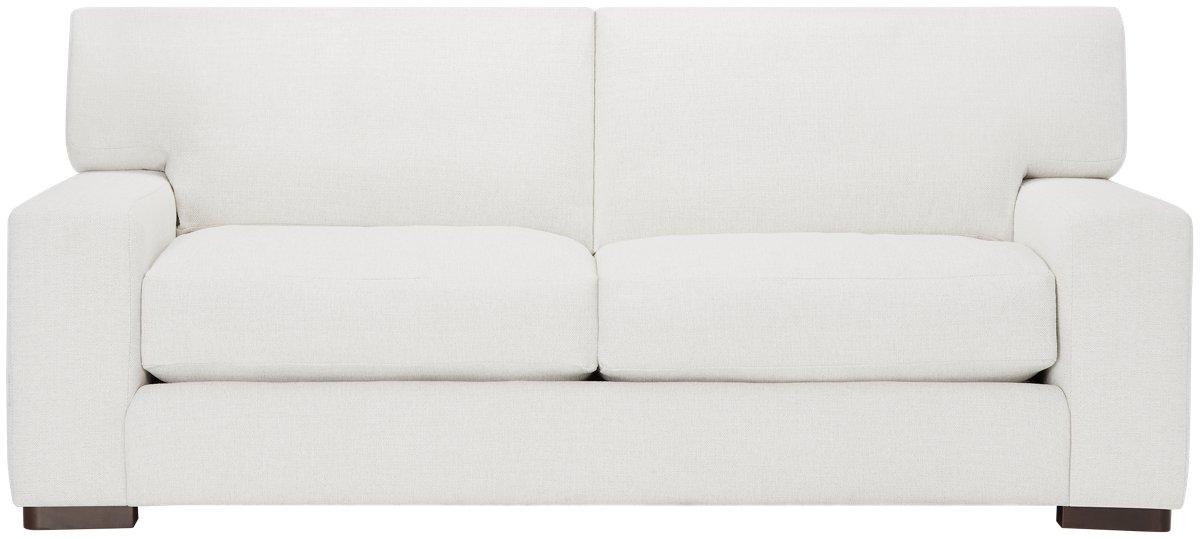 Veronica White Fabric Small Sofa