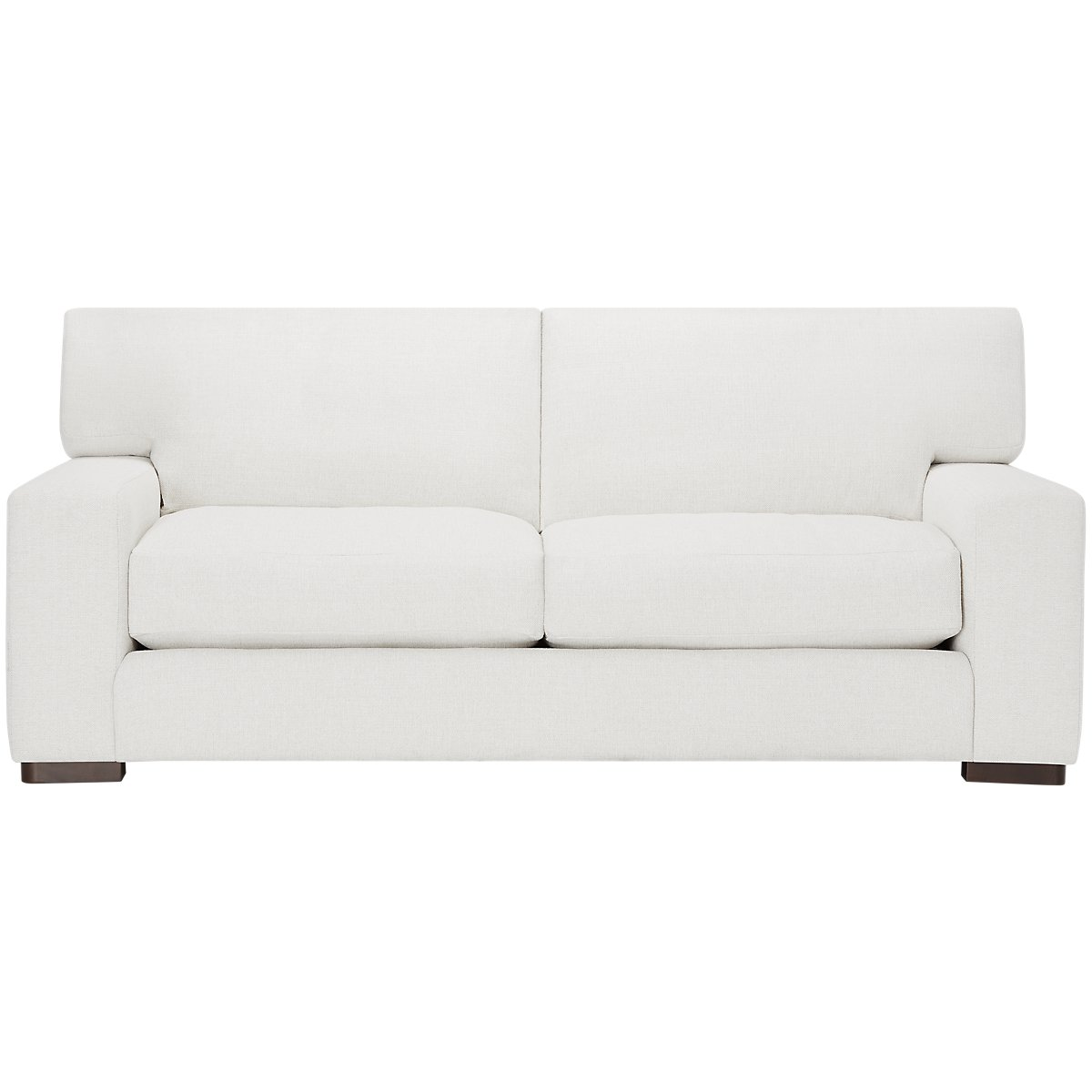 Veronica White Fabric Down Small Sofa