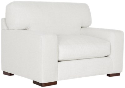 Image Of Veronica White Fabric Chair With Sku:4708153
