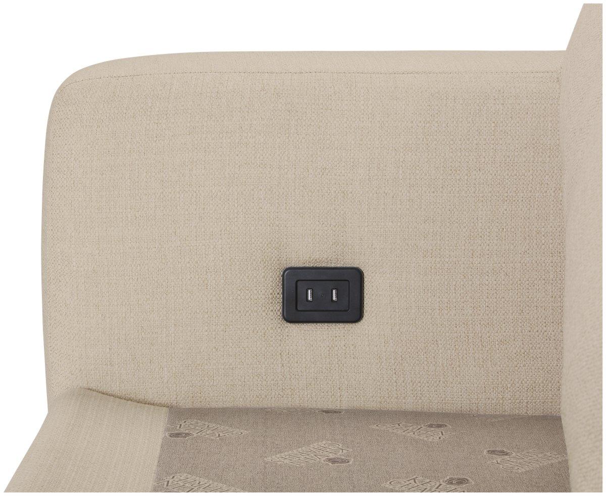 Veronica Khaki Fabric Large Sofa