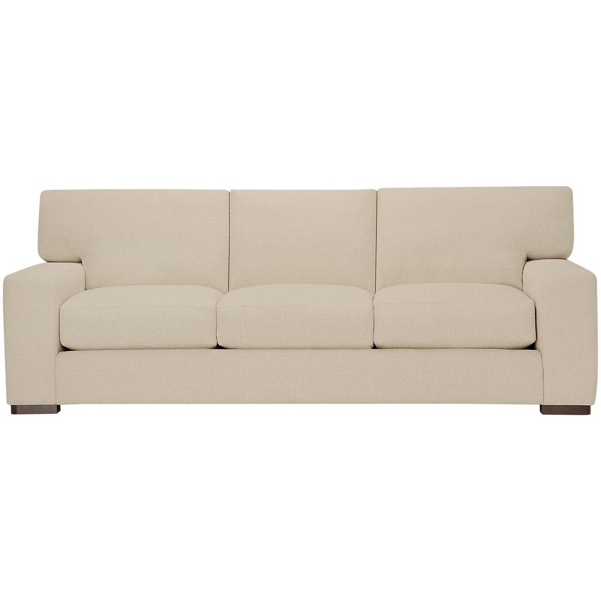 Veronica Khaki Fabric Down Large Sofa
