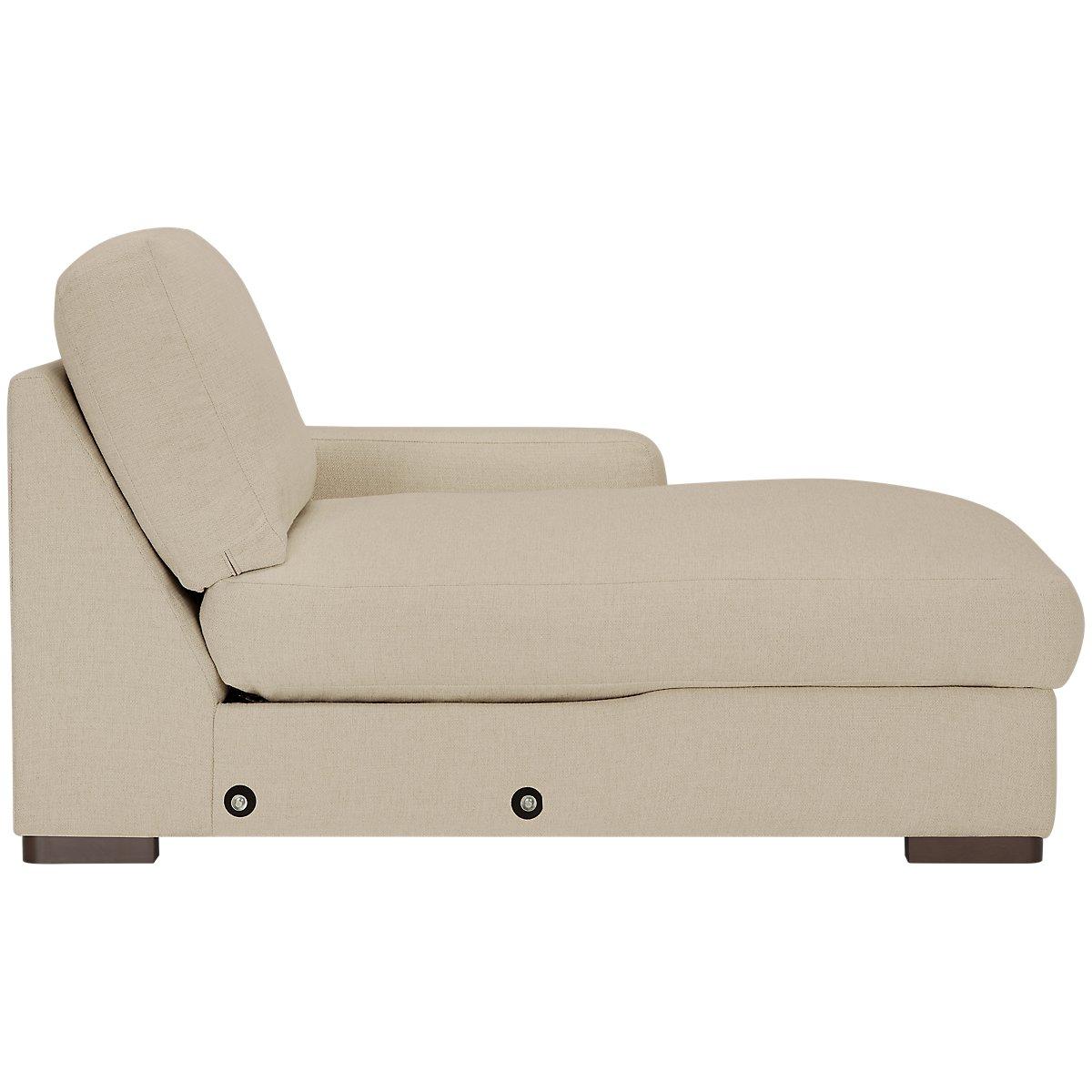 City furniture veronica khaki down large right chaise for Chaise kaki