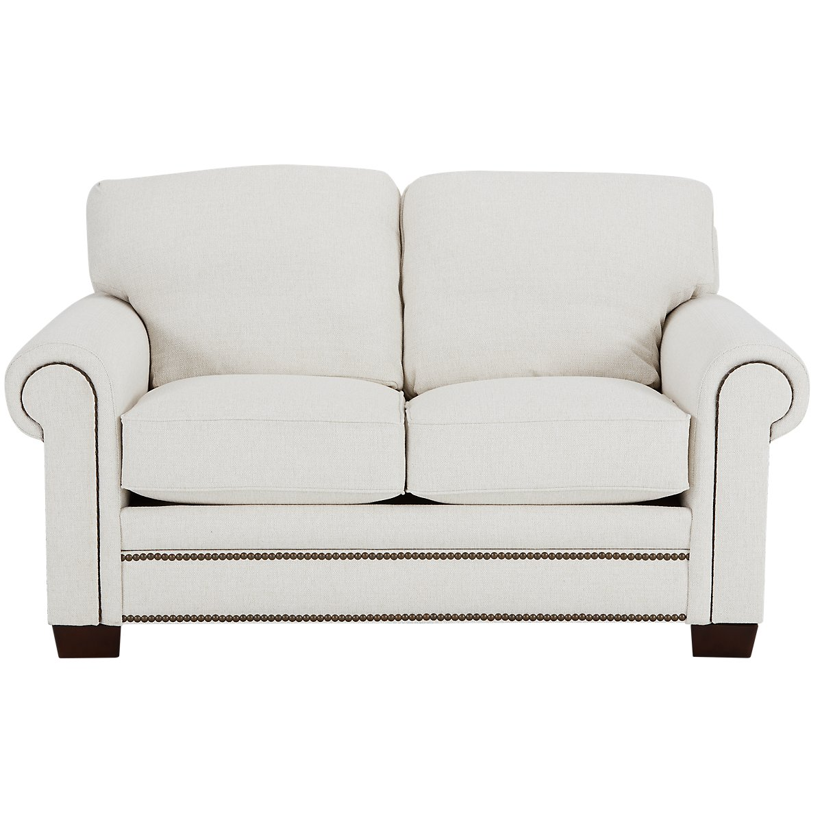 City Furniture Foster White Fabric Loveseat