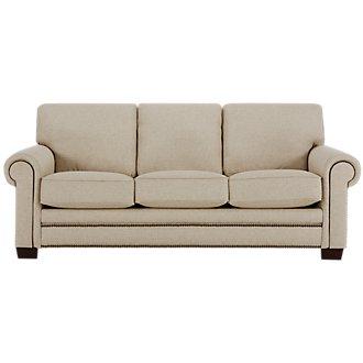 Foster Khaki Fabric Sofa