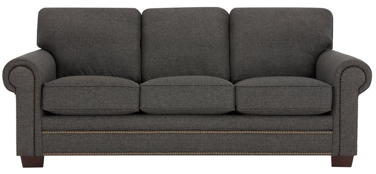 City Furniture Foster Dark Brown Fabric Sofa