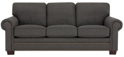 Bon Foster Dark Brown Fabric Sofa
