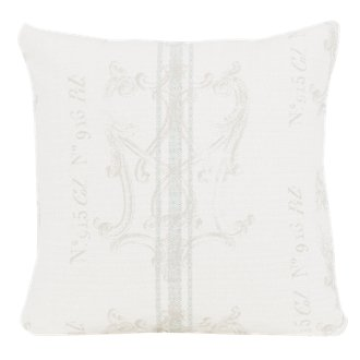 Postale Gray Fabric Square Accent Pillow