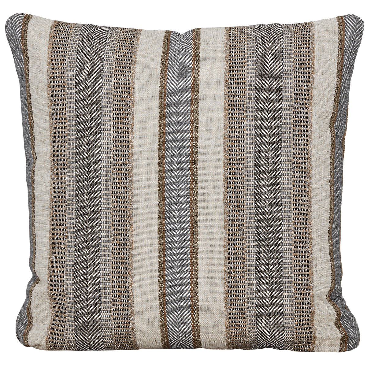 Abode Gray Fabric Square Accent Pillow
