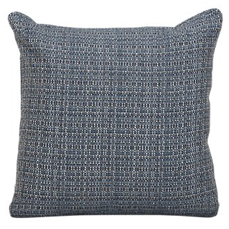 Jackie Dark Blue Fabric Square Accent Pillow