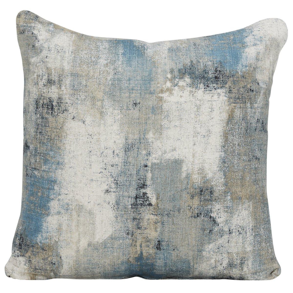 Antalya Dark Blue Fabric Square Accent Pillow
