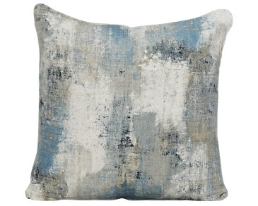 Antalya Dark Blue Fabric Square Accent Pillow