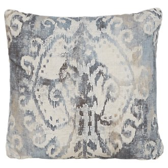 Soledad Gray Fabric Square Accent Pillow
