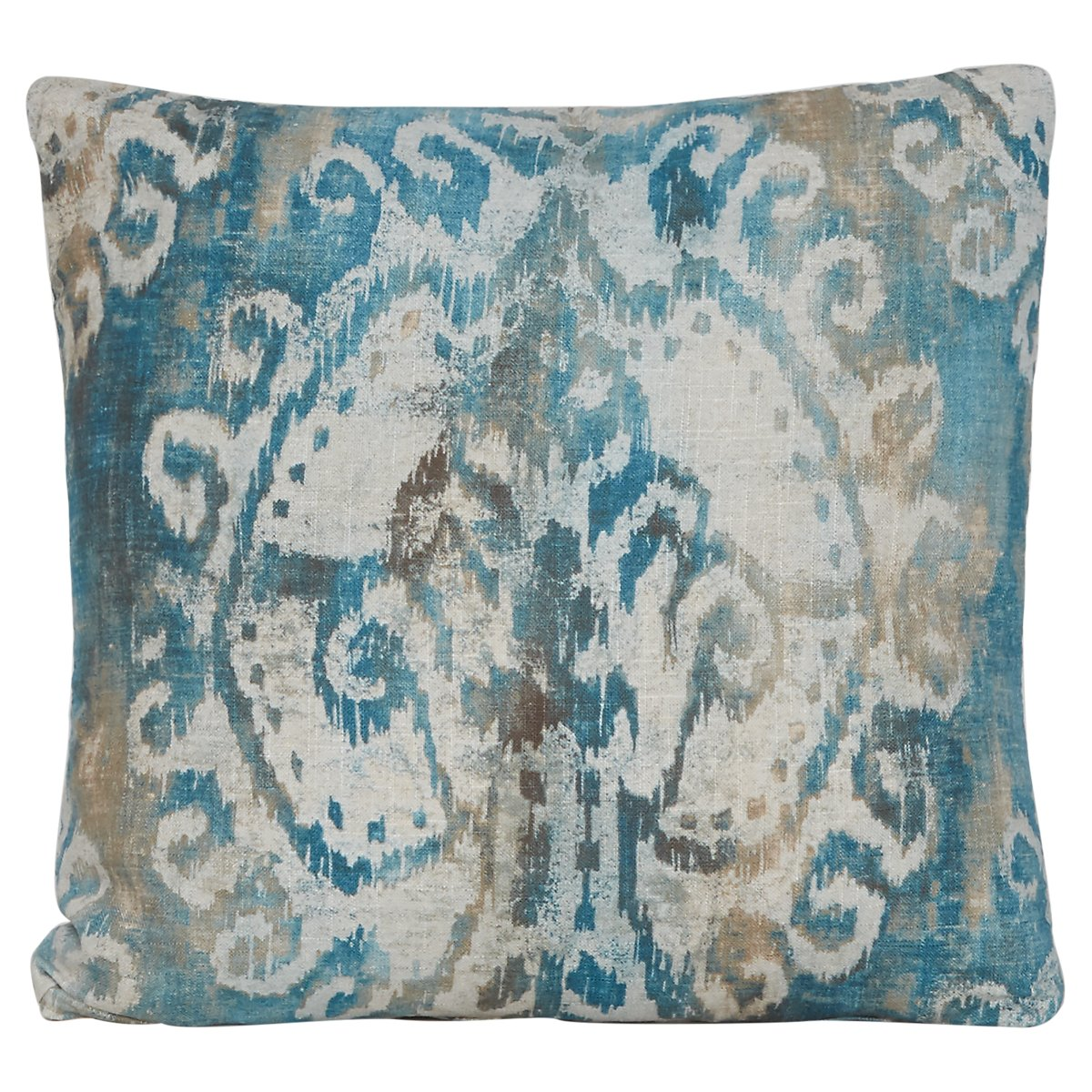 Soledad Blue Fabric Square Accent Pillow
