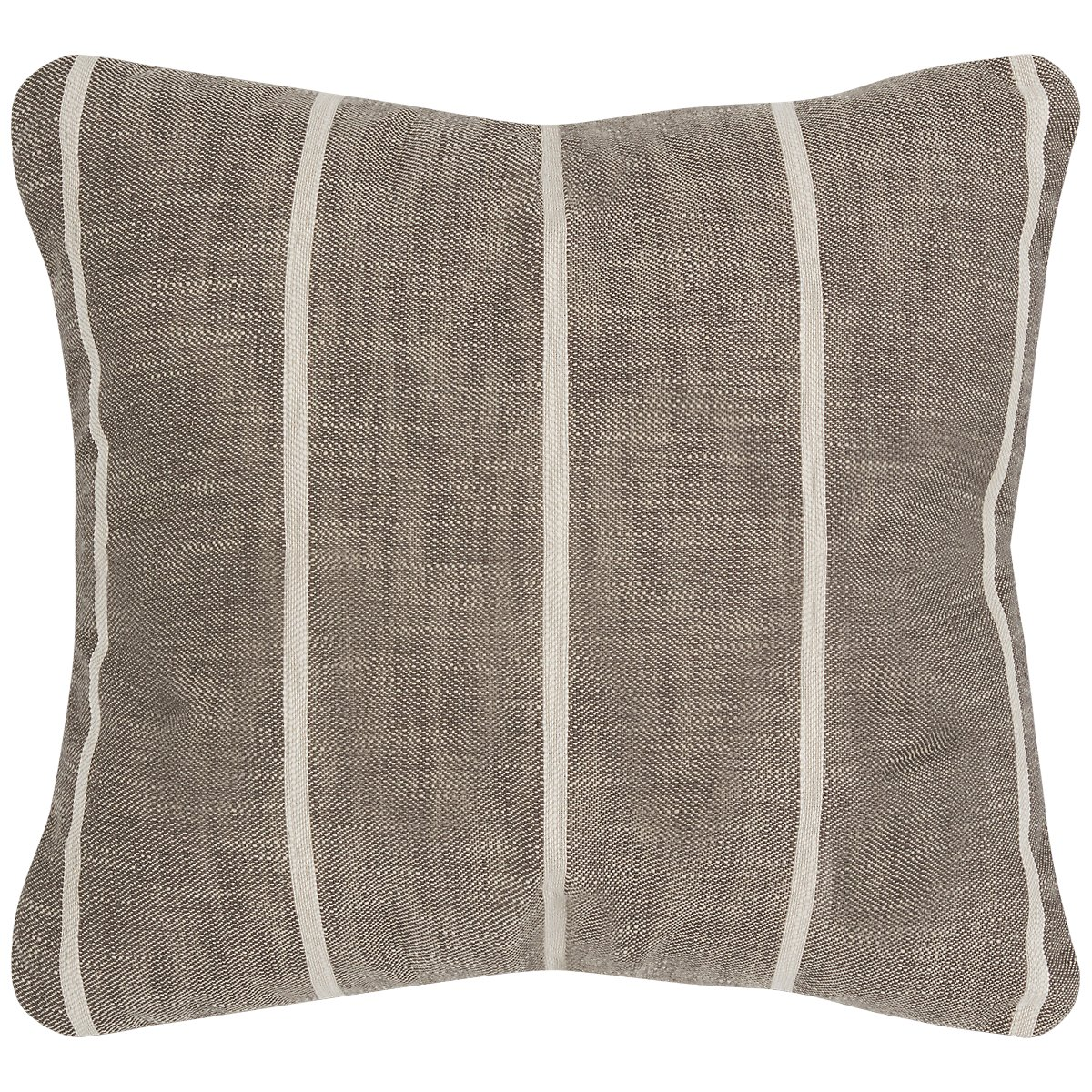 Bellevue Gray Stripe Square Accent Pillow