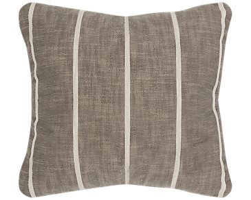 Bellevue Gray Stripe Square Accent Pillow