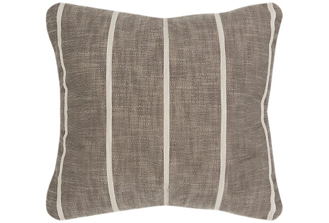Bellevue Gray Square Accent Pillow