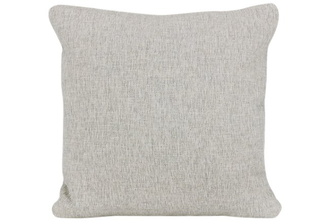 Rodeo Light Gray Fabric Square Accent Pillow