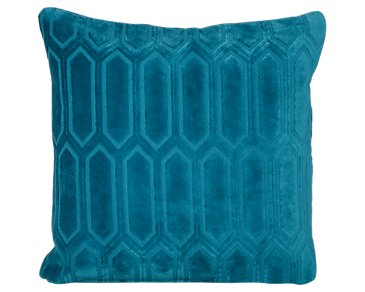 Arkdale Dark Teal Fabric Square Accent Pillow