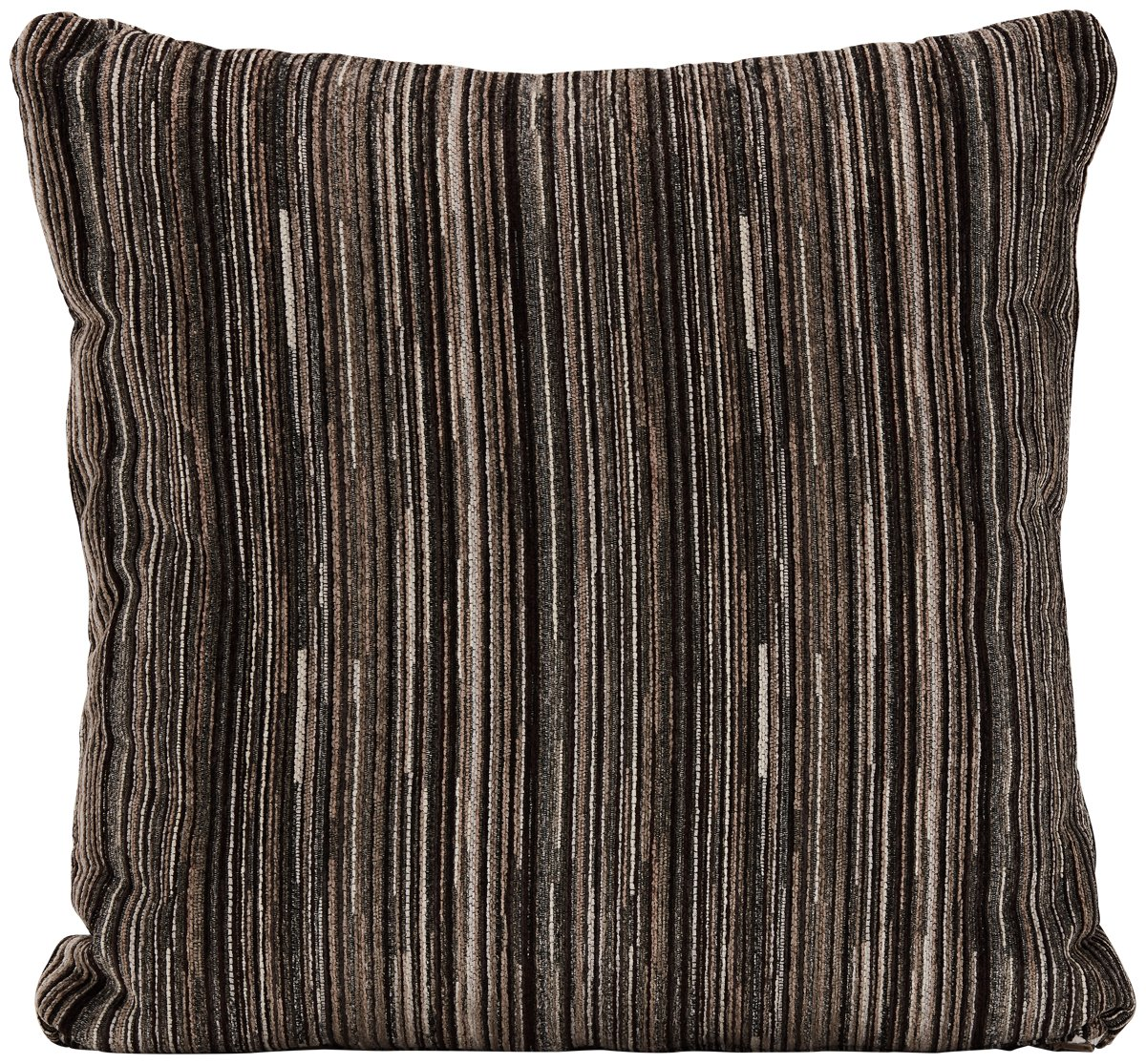 Tease Gray Fabric Square Accent Pillow