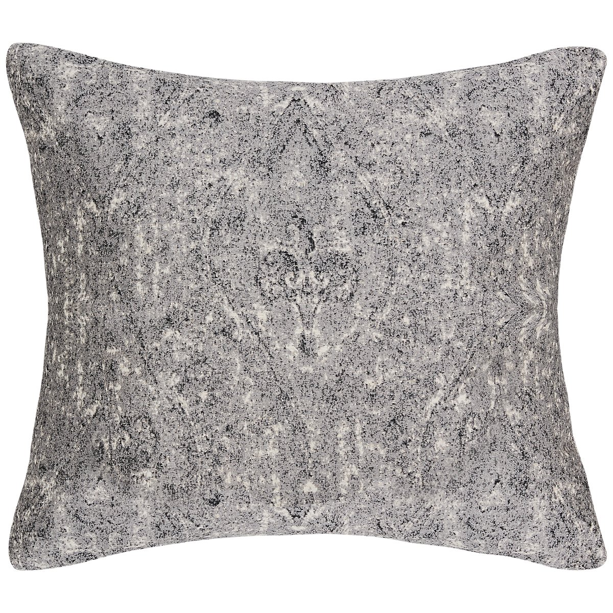 Ogee Gray Fabric Square Accent Pillow