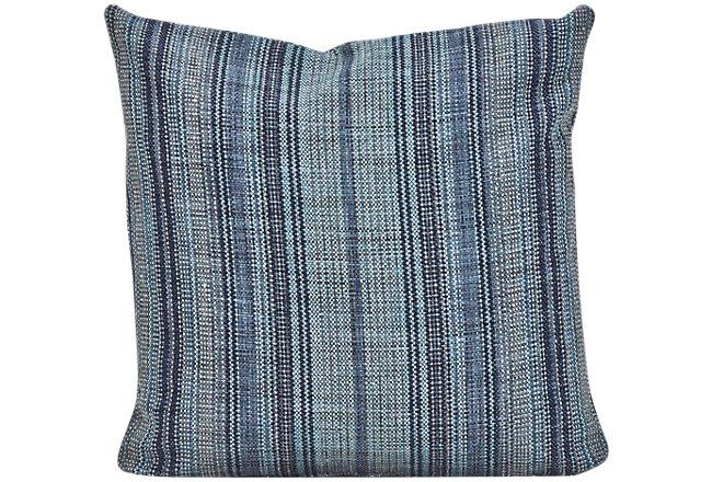 Nominate Blue Fabric Square Accent Pillow