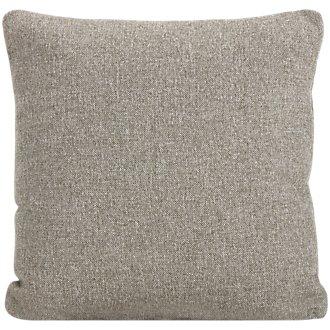 Noah Khaki Fabric Square Accent Pillow