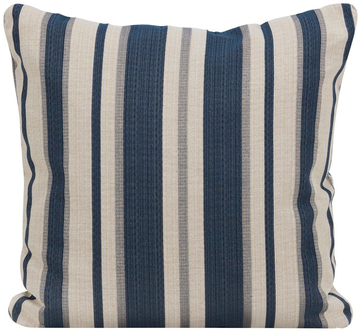 Chad Dark Blue Fabric Square Accent Pillow
