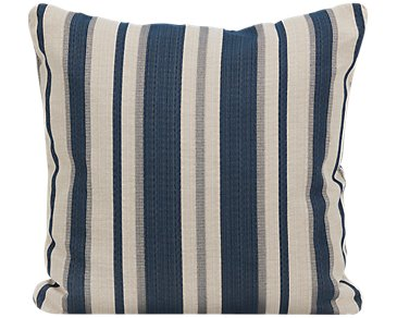 Chad Dark Blue Fabric Square Accent Pillow