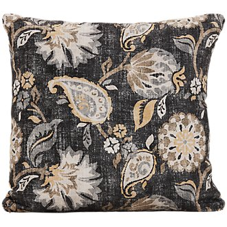 Sylvie Yellow Fabric Square Accent Pillow